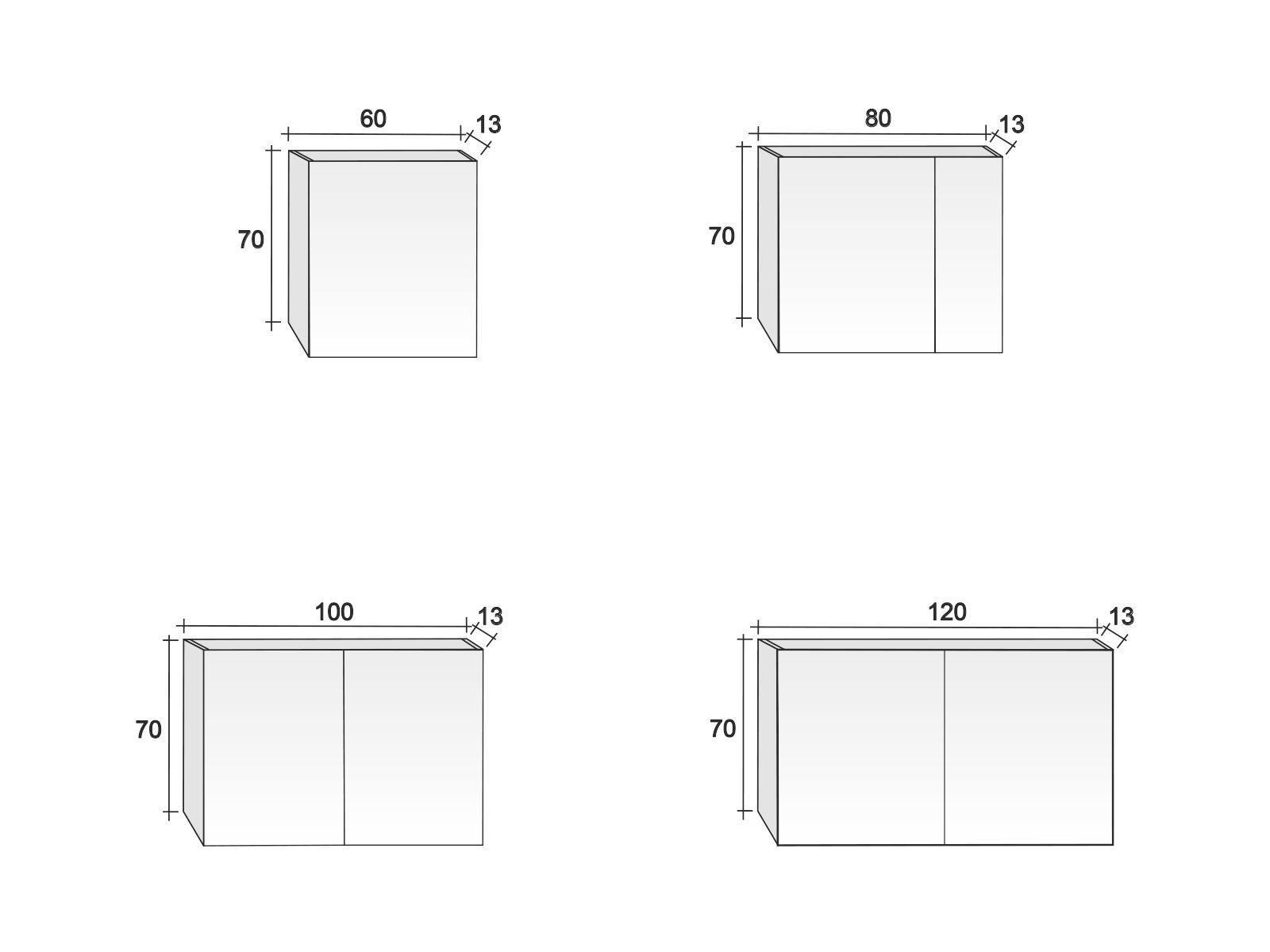 Mirror Cabinet Type12 Measurements
