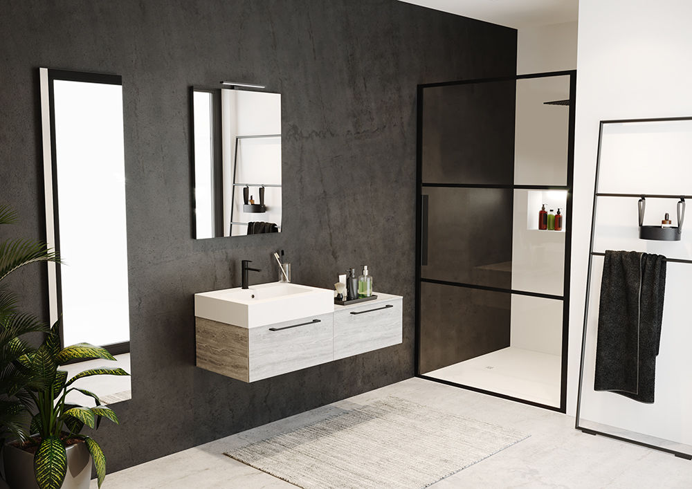 Livit Velvet Top 3 Grid Shower Door Gb101 Velvet Sole Showerfloor Atmospheric Photo 3 Lr